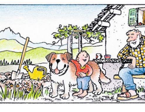 Una storia di famiglia: nonno, cane e nipote